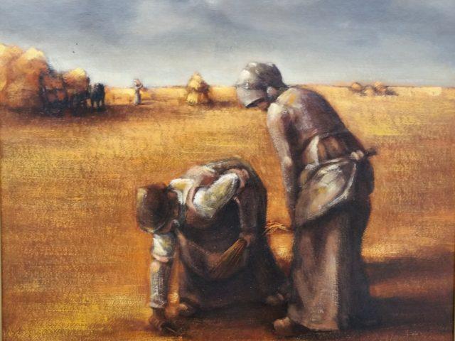 Les moissons – Les glaneuses hommage à Millet