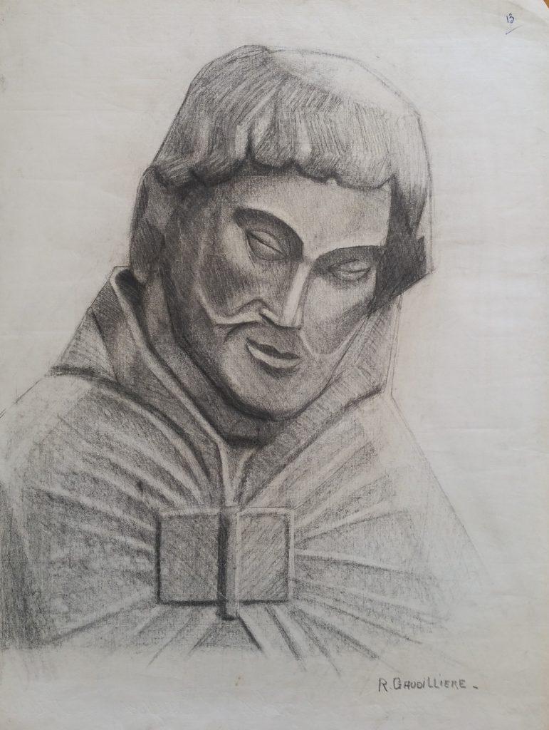 1952 saint n°13 0,64-0,48 étude dessin,Arts Décoratifs Paris