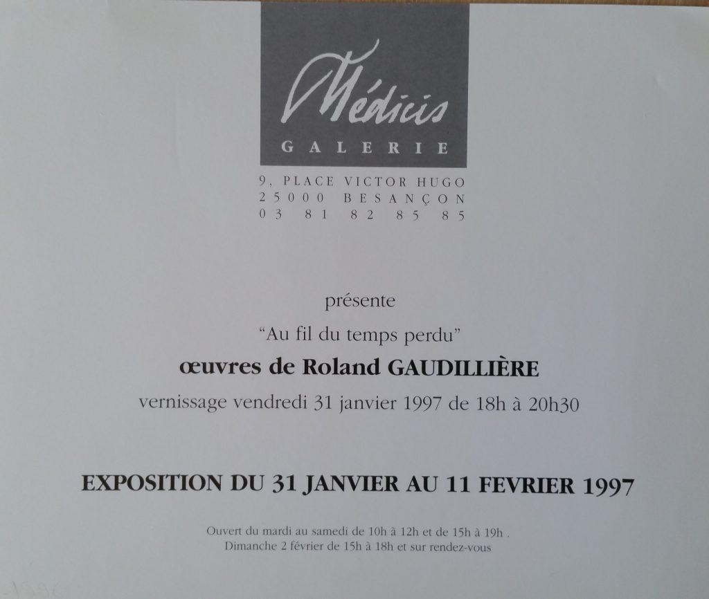 invitation allons tiens toi tranquille janvier 1997