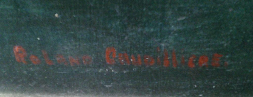 1950 les regains détail signature