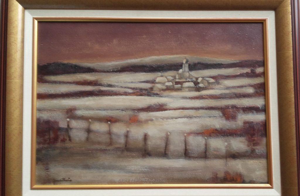 1971 paysage de neige 8P