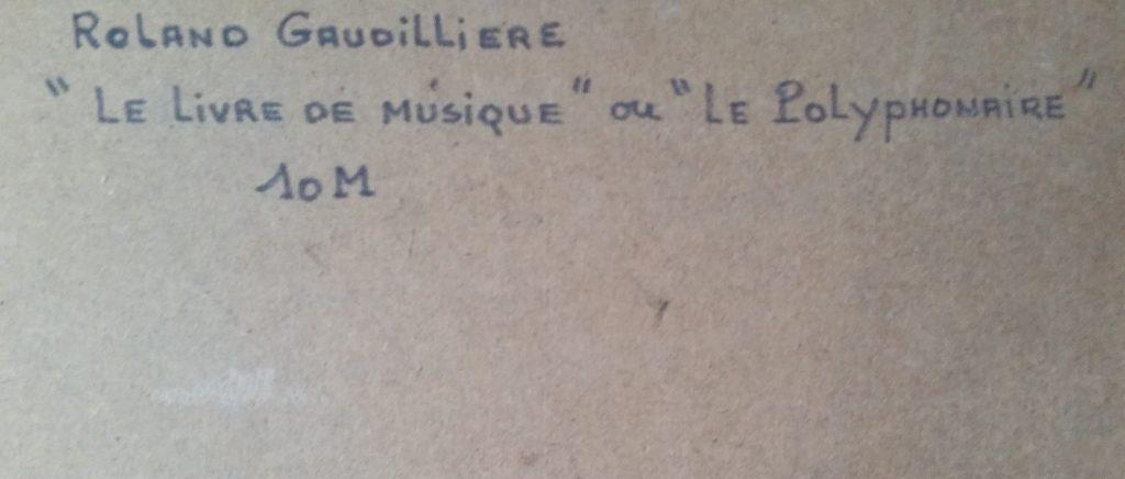 1979 le polyphonaire verso