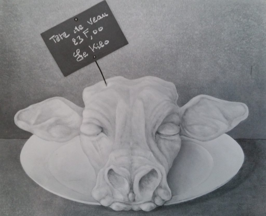 3-1986 la tête de veau