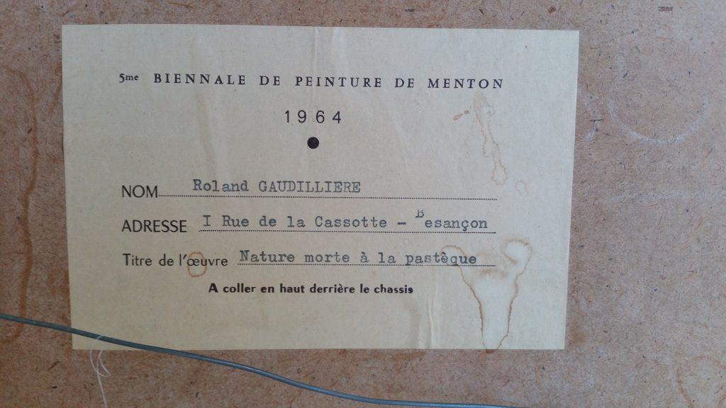1960 nature morte à la pastéque et au mortier