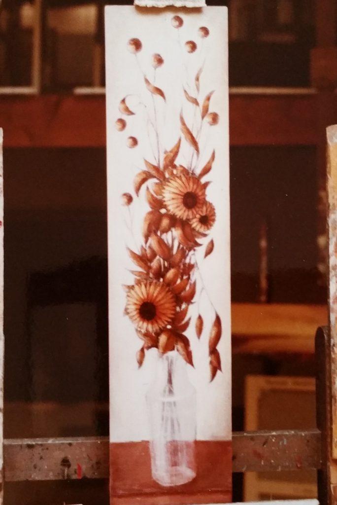 1984-19 les fleurs séchées HF8 dans l'atelier