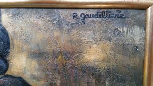 1961 les moissons 40P détail signature