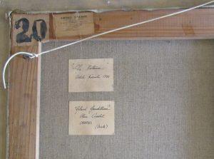 1955 le couple à la batteuse détail verso
