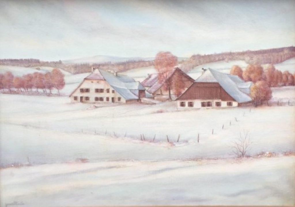 1983 la béridole - première neige 15M 0,50-0,65 toile