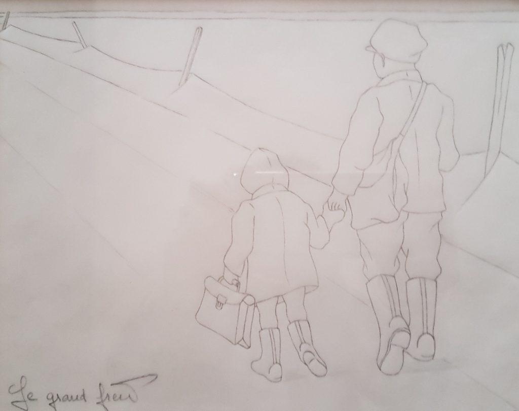 1995 le grand frère 0,22-0,25 étude dessin sur calque