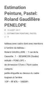 1966 Pénélope 10P verso