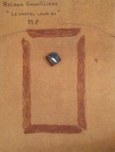 1986 le cartel Louis XV 25P verso avec mécanisme